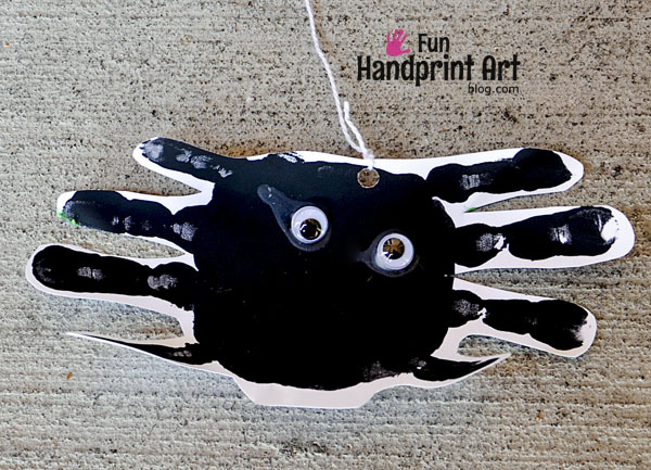 Handprint Spider Preschool Craft