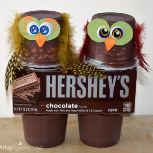 Yummy Hershey's Pudding Owl Snacks and Cute Craft Idea!