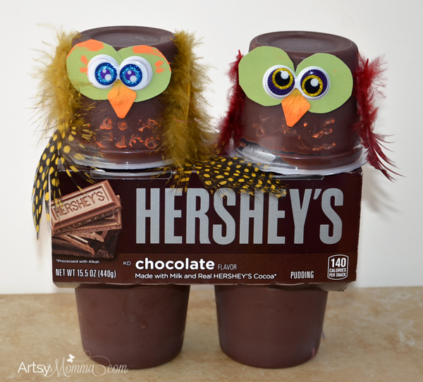 Hershey's Pudding Crafty Owl Snacks