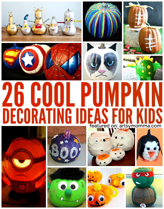 Kid-friendly Ways to Decorate a Pumpkin - tons!