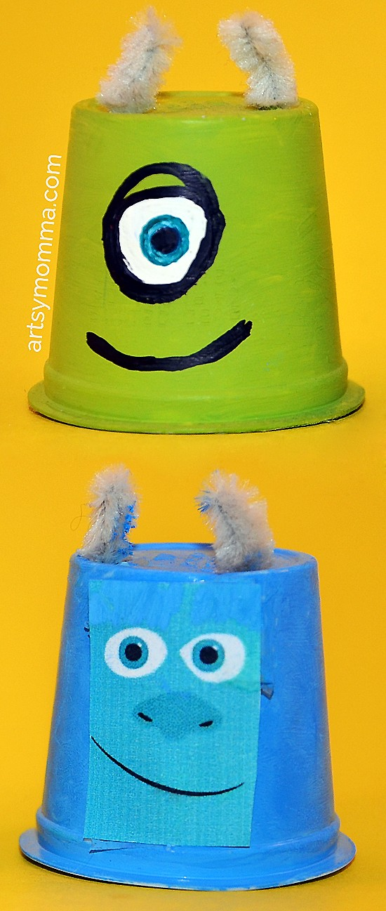 Recycle K Cups into Mike & Sulley from Monsters University!