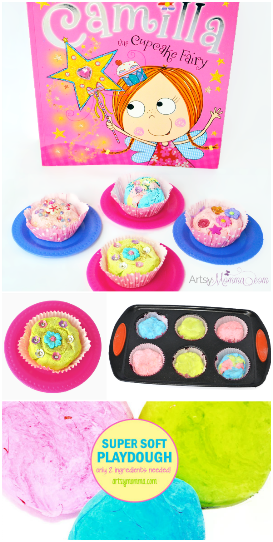 National Play-Doh Day: Playdough Cupcakes to go along with Camilla the Cupcake Fairy Book
