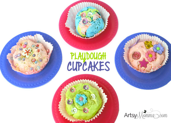 Playdough Cupcakes Pretend Play Activity
