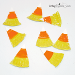Mini Paper Plate Candy Corn Craft for Preschoolers