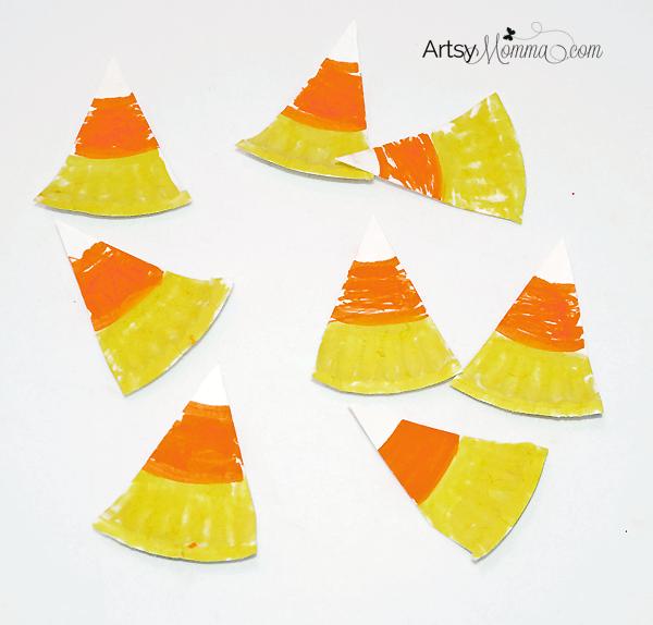 Mini Paper Plate Candy Corn Craft for Preschoolers