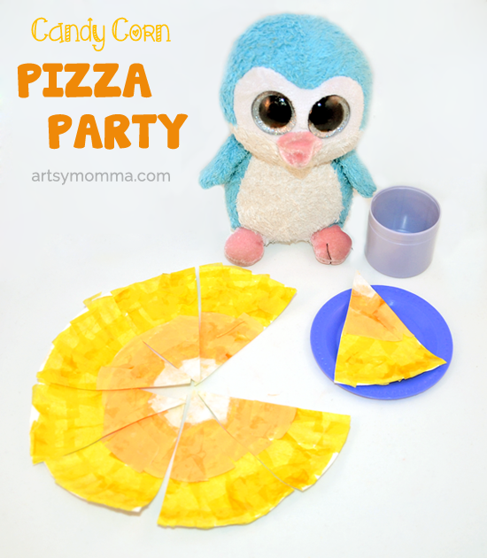 Pretend Candy Corn Pizza Party