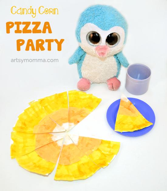 Pretend Candy Corn Pizza Party