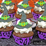 Halloween Cupcakes: Witch Hat Toppers with Royal Icing
