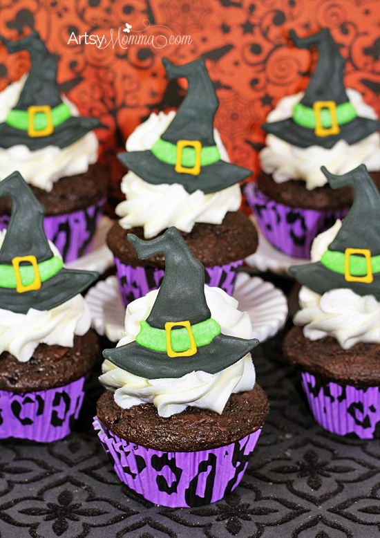 How to make Witch Hat Cupcake Toppers for a Spooky Halloween Party!