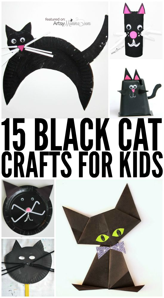 15 Black Cat Crafts for Halloween