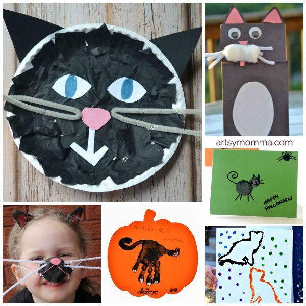 15 Adorable Black Cat Crafts for Kids