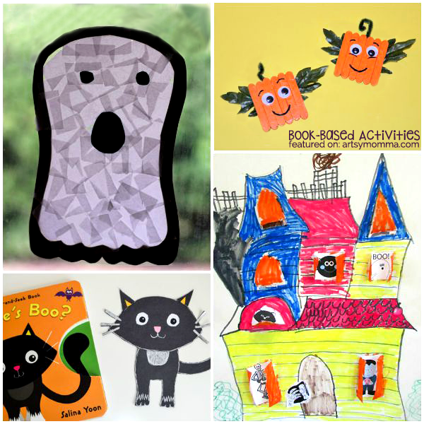 10 Not-so-scary Book-based Halloween Crafts