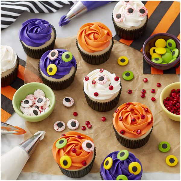 Candy Halloween Eyes for Halloween Cupcakes & Cookies