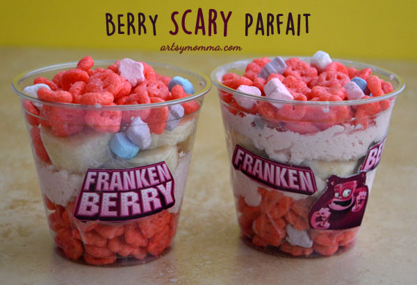 Berry Scary Monster CerealParfait