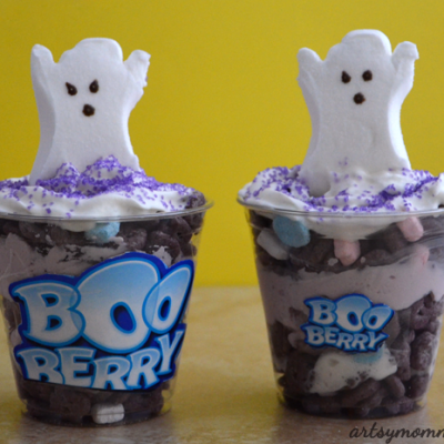 Spooktacular Monster Cereal Parfaits & a Haunted Castle Craft