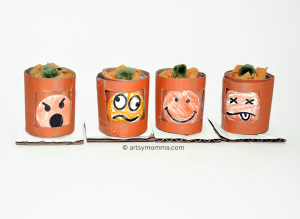 Changeable Emotions Jack-o-lantern Craft for Halloween