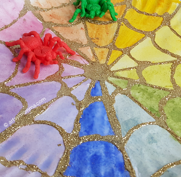 Spider Web Color Wheel Craft & The Rainbow Web Book