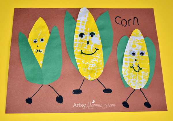 Corn on the Cob Characters | Thanksgiving Craft for Kids