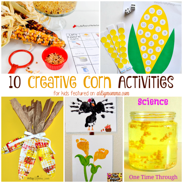 10 Creative Corn Activities & Crafts for Kids