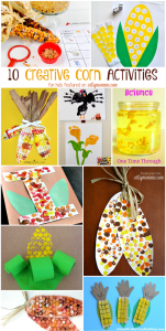 10 Creative Corn Painting, Math Science, & Crafts