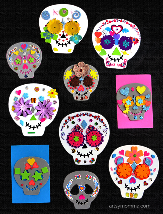 Day of the Dead Craft Foam Sugar Skulls