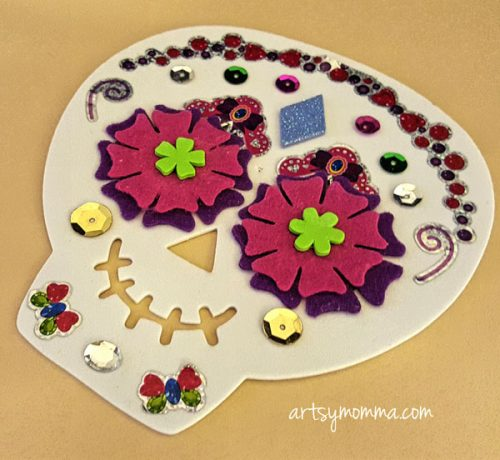 Foam Sugar Skull Craft for Kids