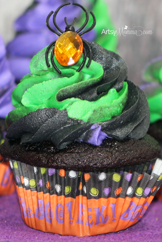 Halloween Cupcakes with Swirled Frosting