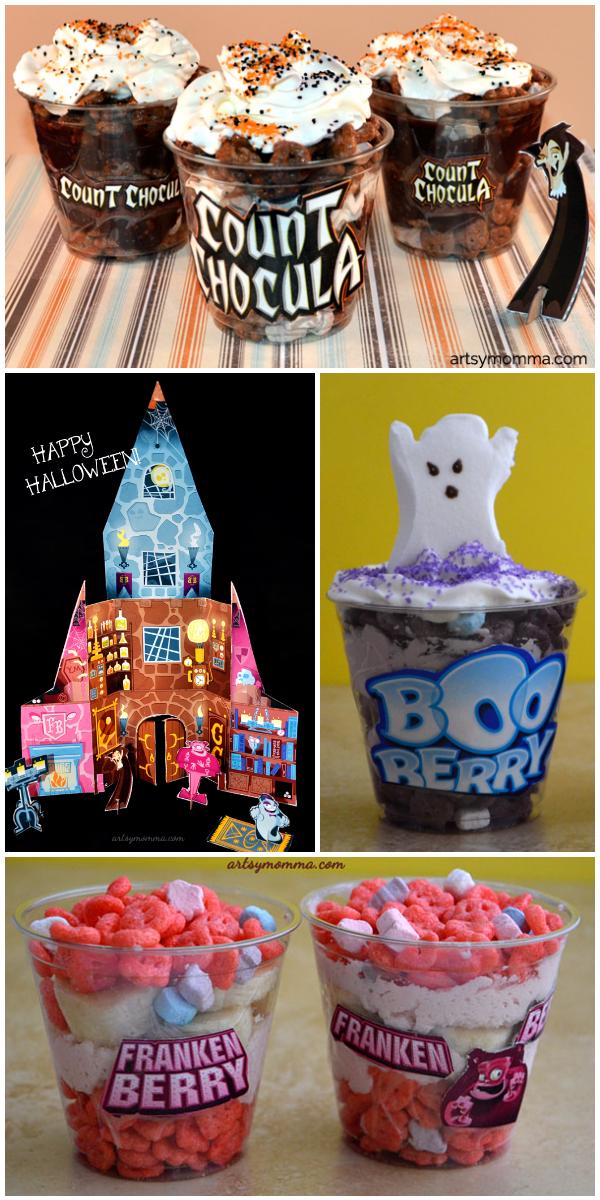 Spooktacular Monster Cereal Parfaits - Fun Halloween Snack!