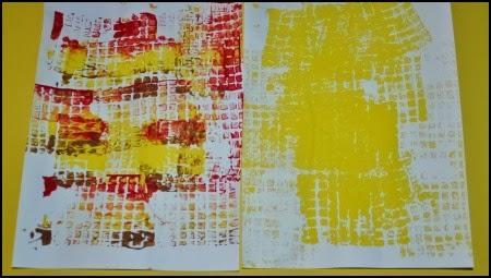 Paint texture for corn using paint roller technique