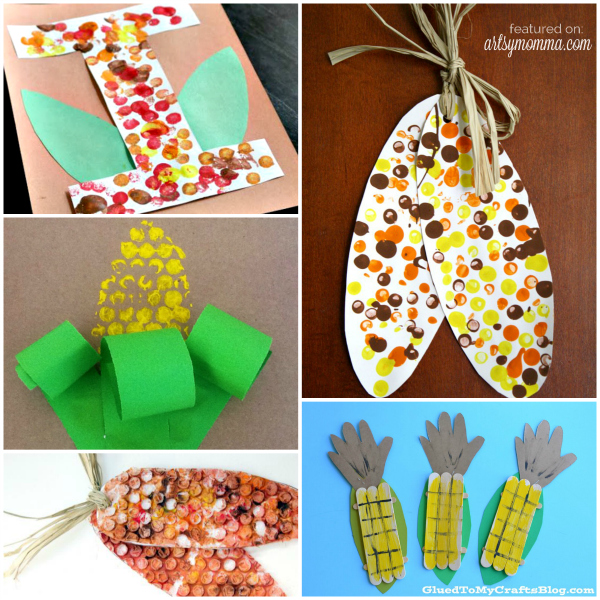 Kids Thanksgiving Corn Crafts