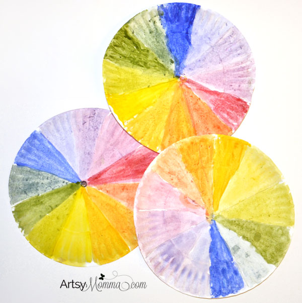 Paper Plate Color Wheel Craft & Color Mixing Activity