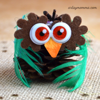 Cutest Pinecone Owl Craft