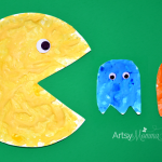 Puffy Paint Pac-Man & Ghosts