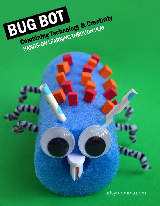 Recycled Toy Bug Bot - STEAM challenge for kids that will have them learning through play!