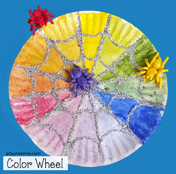 Spider Web Color Wheel Craft & Learning Activity for Kids