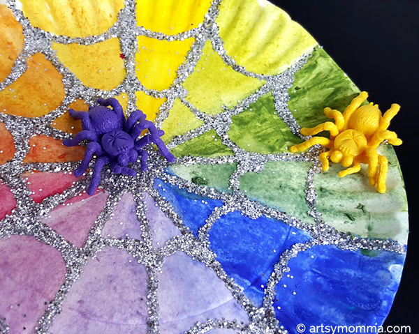 Spider Web Color Wheel Craft