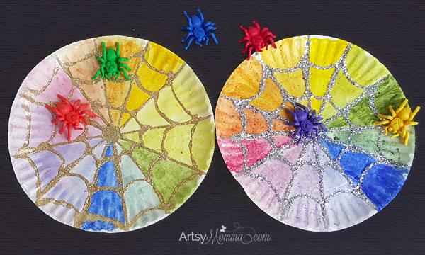 The Rainbow Web Spider Web Craft