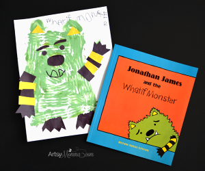 Jonathon James and the Whatif Monster Craft - cute book for kids who worry