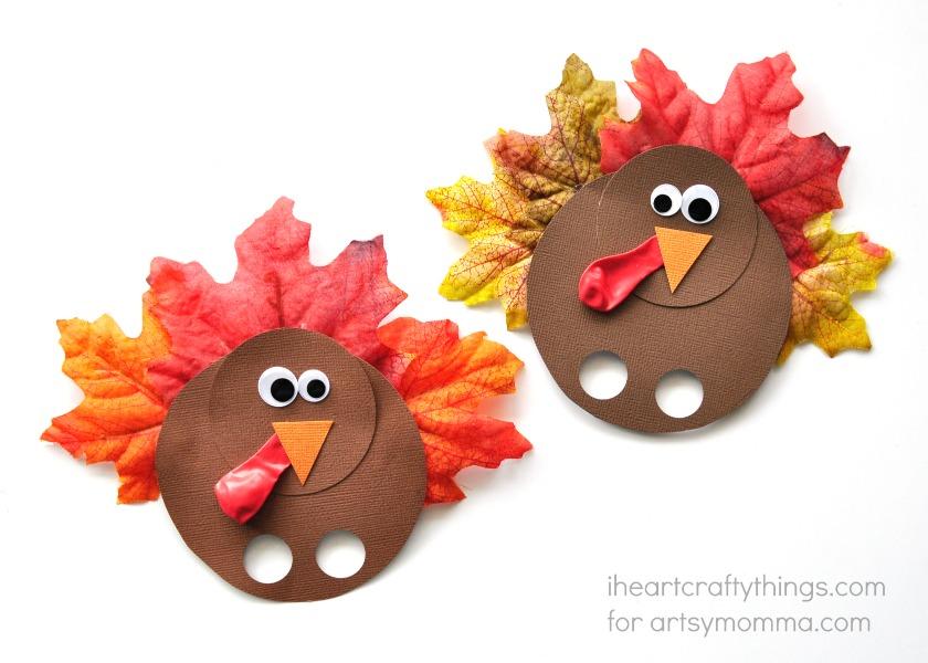 Thanksgiving Turkey Finger Puppet Craft