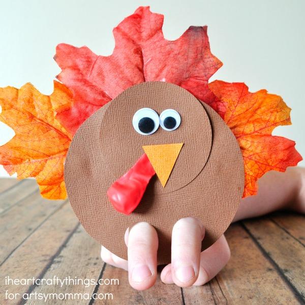 Turkey Finger Puppet Kid Craft