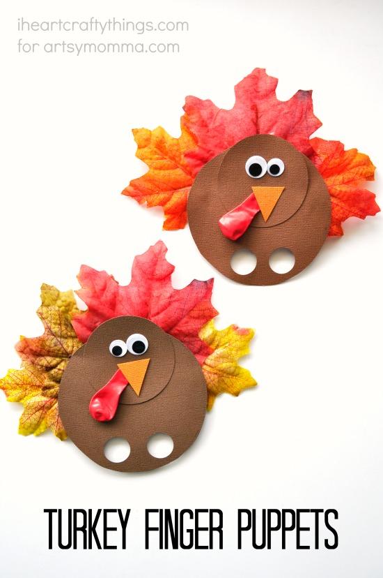 Thanksgiving Turkey Puppets Craft