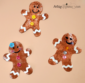Cookie Cutter Gingerbread Paper Craft