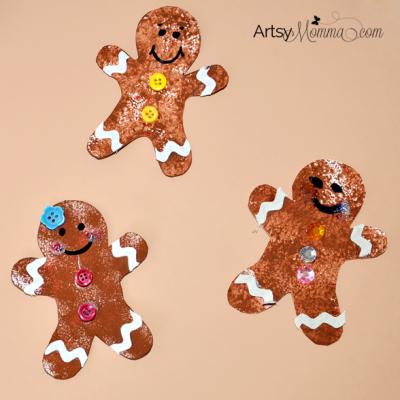 Sponge Painted Gingerbread Cookies – 4 Ways!
