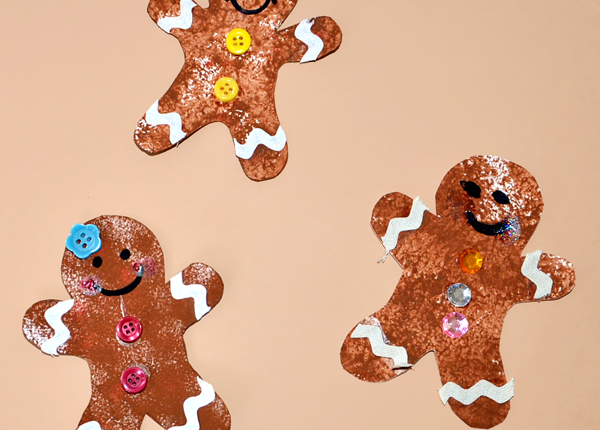 Sponge Painted Gingerbread Cookies – 4 Ways!