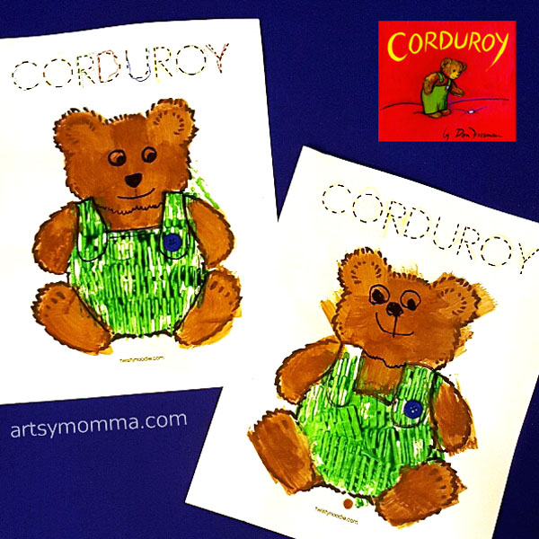 Corduroy Book Extension Ideas - Stamping with Toys Craft