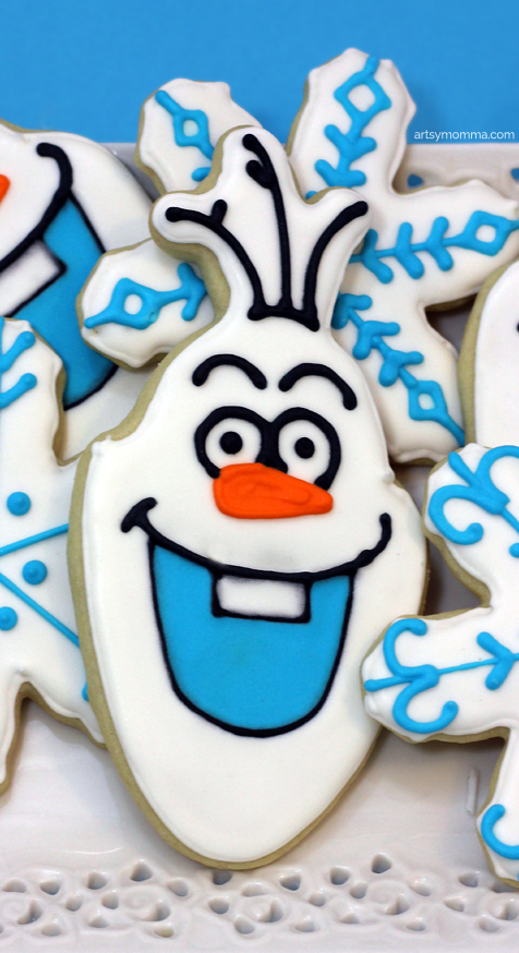 DIY Olaf Cookies Frozen Party