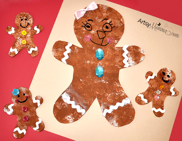 Gingerbread Sponge Painting Craft