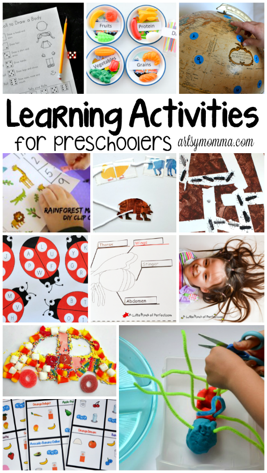 Learning Activities for Preschoolers - Huge List with Themes!