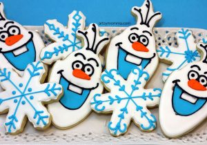 OLAF Cookie Tutorial - Frozen Birthday Party Idea