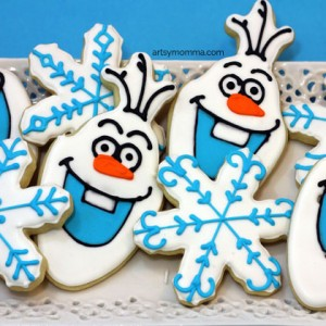 DIY Olaf Cookies for a Frozen Birthday Party